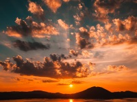 Sunset, Attersee